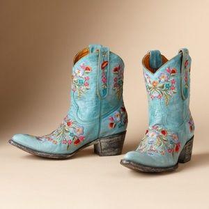 New Aqua blossom old gringo mexicana boots